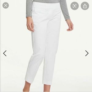 NWT Ann Taylor White Signature Crop Pants Size 14
